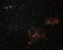 Herznebel (IC 1805) und Embryonebel (IC 1848) mit Doppelhaufen h&Chi (NGC 869 + NGC 884) im Per
